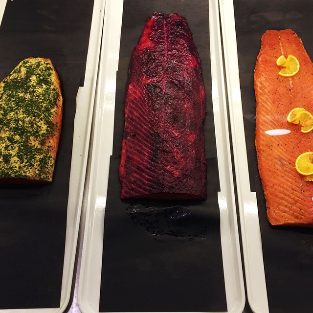 Wasabi, beet, dill / wasabi, betterave, aneth. #épicerie #gravlax #grocery #fancy #beyonce #foudici #luxe #food #fish