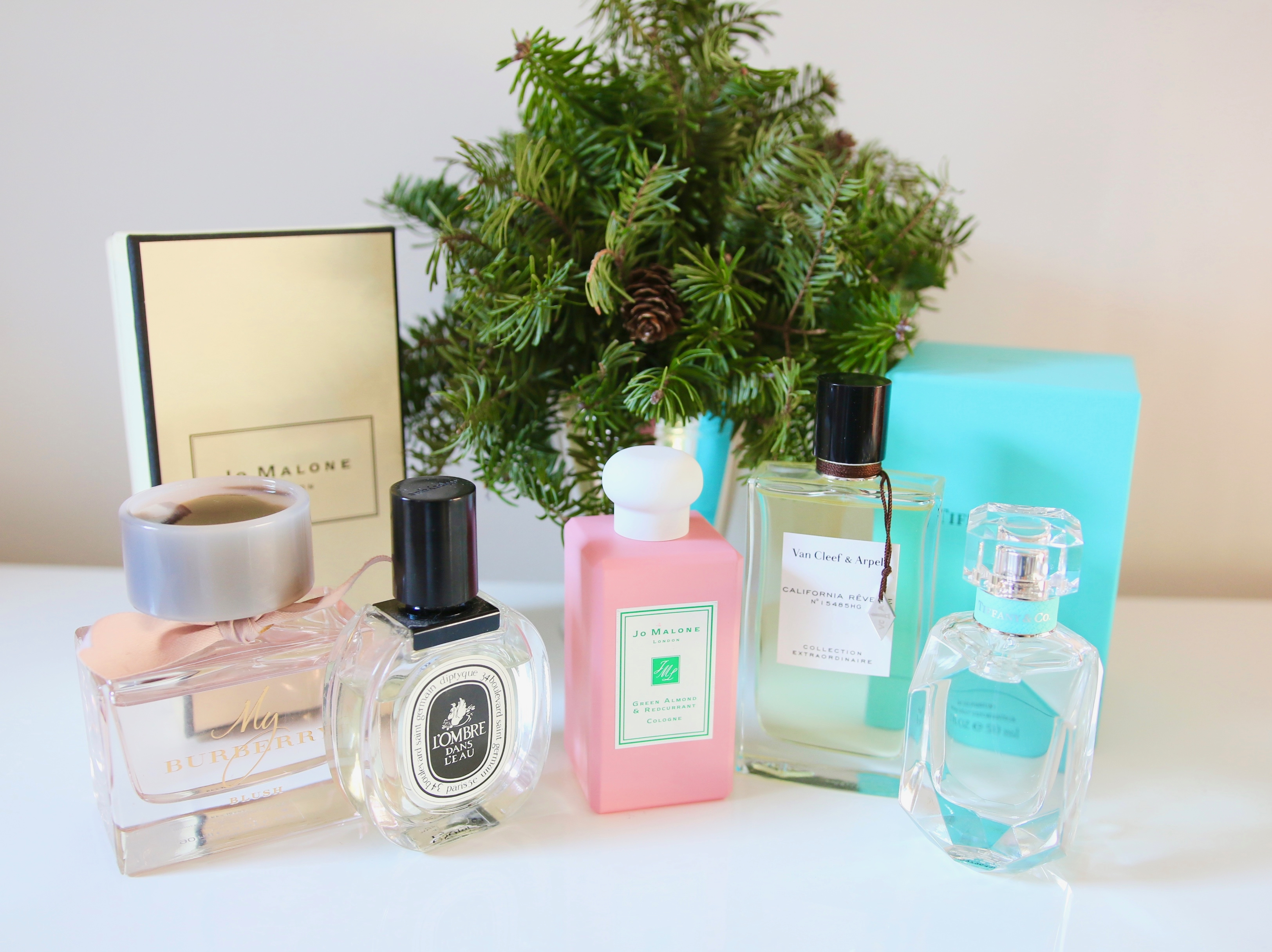 fragrances luxueuses Diptyque Jo Malone Burberry Tiffany Van Cleef & Arpels