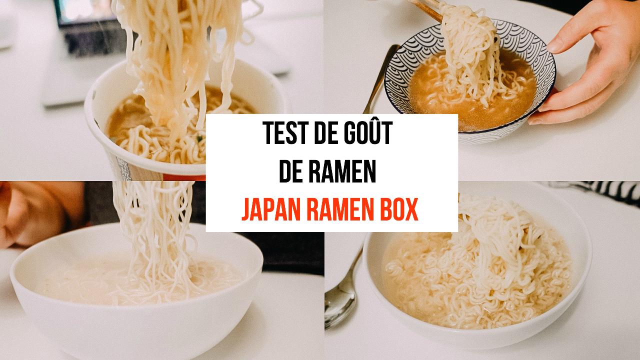Japan Ramen Box - test de goût